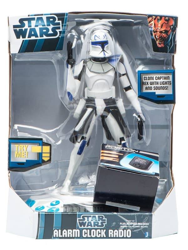 Часы-будильник Jazwares Star Wars Clone Captain Rex Alarm Clock