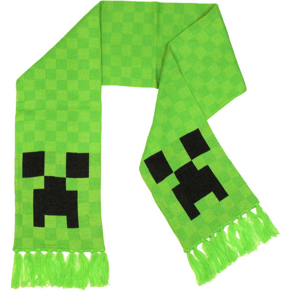 Шарф вязаный Minecraft Creeper Scarf